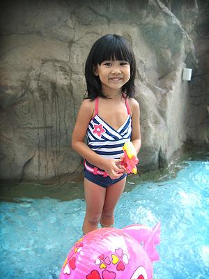 Cleo in pool